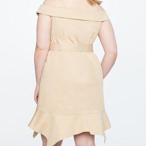 307c0ce069eb Eloquii Dresses - Eloquii Off the Shoulder Dress Khaki